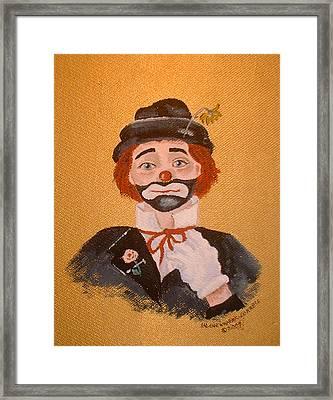 Felix The Clown Framed Print by Arlene  Wright-Correll