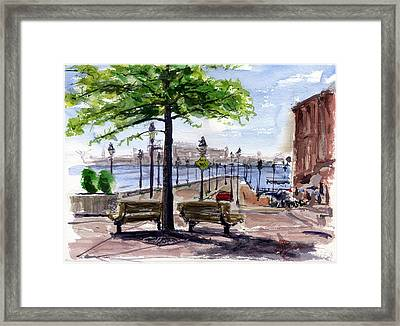 Fell Point In Baltimore Maryland Framed Print by John D Benson