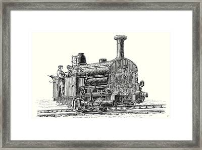 Fell's Locomotive For The Rail Central Railway Framed Print by English School