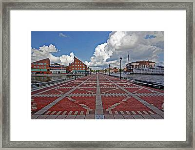 Framed Print featuring the photograph Fells Point Pier by Suzanne Stout