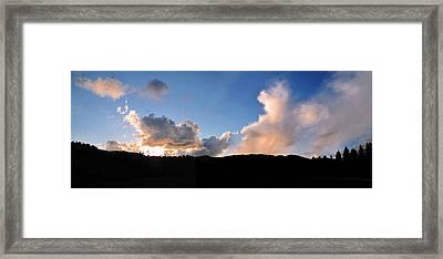 Felton Sunset Framed Print by Larry Darnell