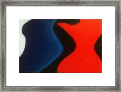 Fem Figure Flow Framed Print