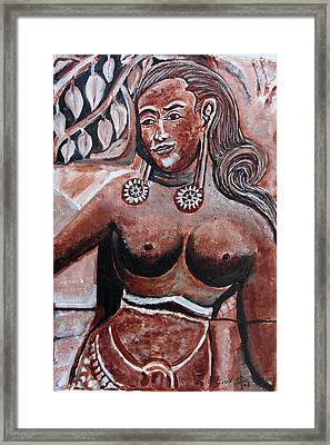 Framed Print featuring the painting Femail Figure by Anand Swaroop Manchiraju