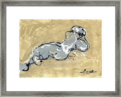 Female Abstract Nude Framed Print