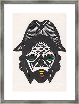 Female Ancestral Mask Of The Mpongue Of The Congo Framed Print by Mia Alexander