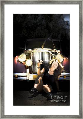 Female Auto Mechanic Framed Print