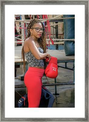 Female Boxer Havana Cuba II Framed Print