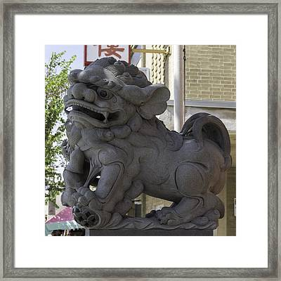Female Chinese Guardian Lion Framed Print
