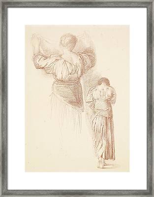 Female Drapery Studies Framed Print