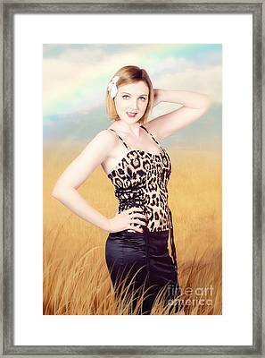 Female Explorer On South African Wilderness Tour Framed Print by Jorgo Photography - Wall Art Gallery