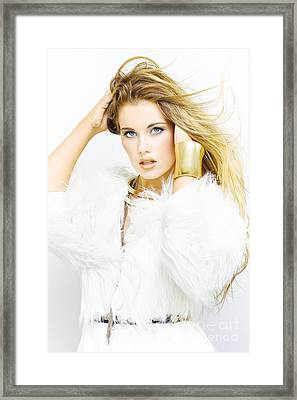 Female Fashion Model Framed Print
