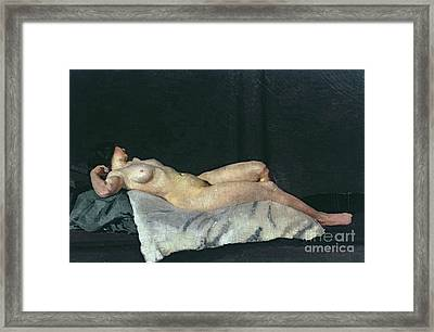 Female Figure Lying On Her Back Framed Print