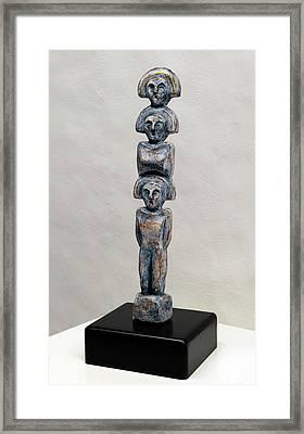 Female Figurine - Goddess Worship - Matronen - Matrone - Matrones - Matron - Nettersheim Eifel  Framed Print