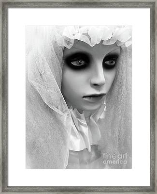 Female Ghost Halloween Print -  Dearly Departed Ghostly Female Soul - My Beloved Framed Print by Kathy Fornal