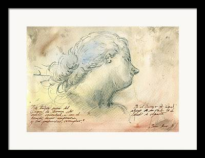 Classic Drawing Framed Prints