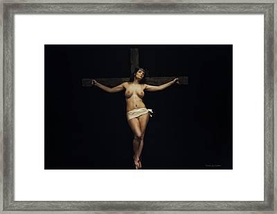 Female Jesus Framed Print