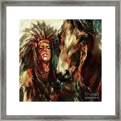 Female Native American  Framed Print
