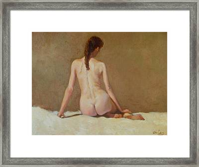 Female Nude   Back View      Framed Print by David Olander