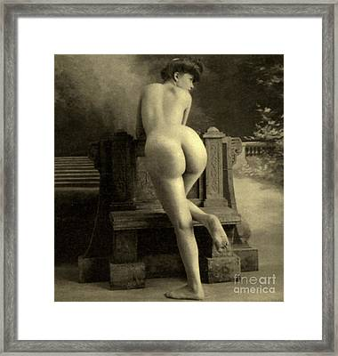 Female Nude, Circa 1900 Framed Print by French School