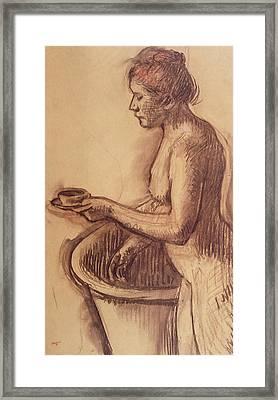 Female Nude  Framed Print by Edgar Degas