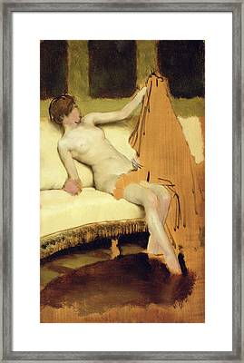 Female Nude Framed Print by Sir Lawrence Alma-Tadema