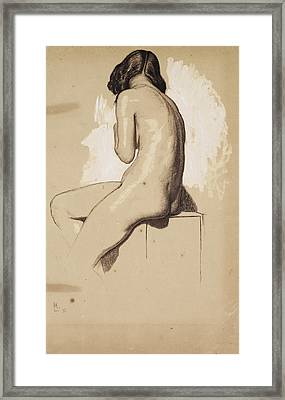 Female Nude - Study From Behind Framed Print