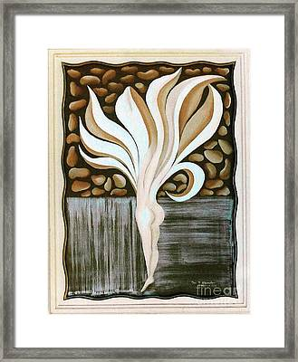 Framed Print featuring the painting Female Petal by Fei A