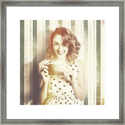 Female Pinup Photographer Framed Print by Jorgo Photography - Wall Art Gallery