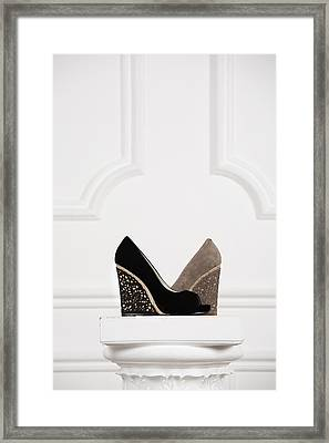 Framed Print featuring the photograph Female Shoes by Andrey  Godyaykin
