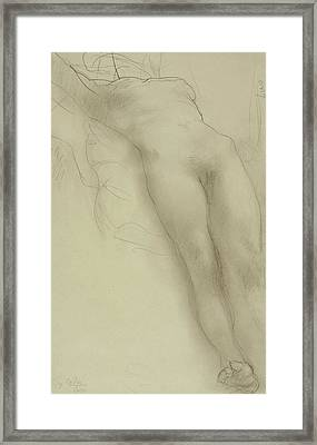 Female Torso Framed Print by Auguste Rodin