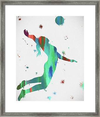 Female Volleyball Player Framed Print by Dan Sproul