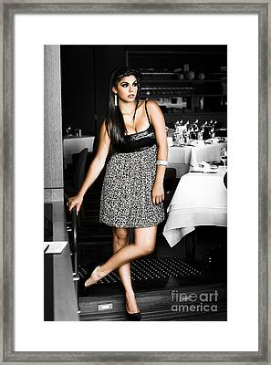 Female Waiter  Framed Print