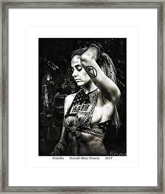 Femella Framed Print by Donald Yenson