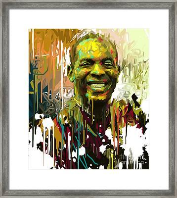 Femi Kuti  Framed Print by Kegya Art Gallery