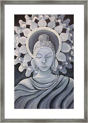 Feminine Buddha In A Peaceful Place Framed Print by Nicole Werth