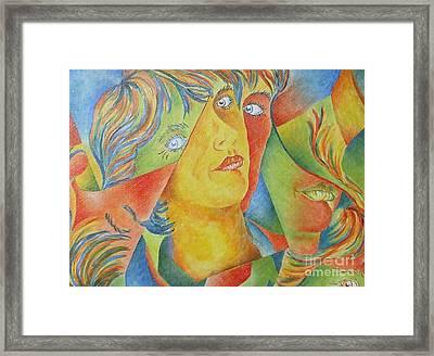 Femme Aux Trois Visages Framed Print