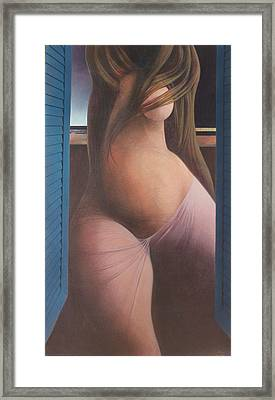 Femme Aux Volets Framed Print by James LeGros