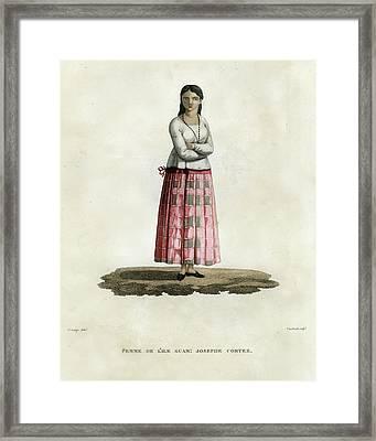 Femme De L Ile Guam Josephe Cortez Framed Print