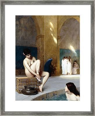 Femme Nue Framed Print by Jean Leon Gerome