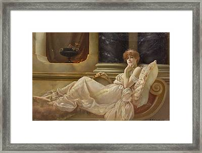 Femme Sur La Chaise Framed Print by Charles Frederick