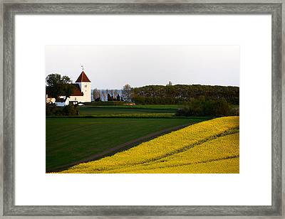 Femoe Fields And Church Framed Print