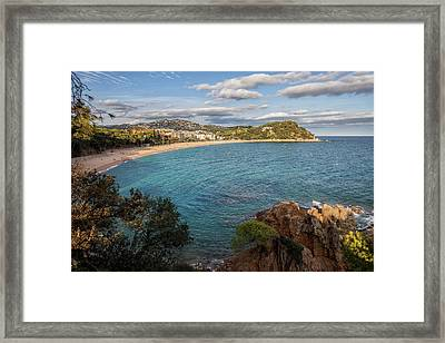 Fenals Beach In Lloret De Mar Framed Print by Artur Bogacki