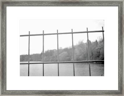 Fence Against Nature Framed Print