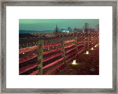 Fence And Luminaries 11 Framed Print by Judi Quelland
