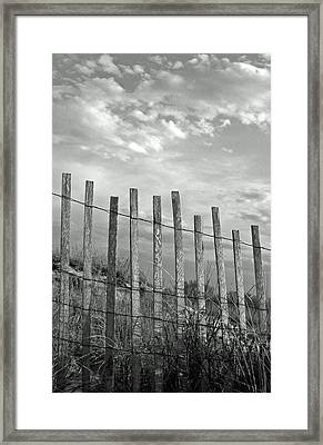 Fence At Jones Beach State Park. New York Framed Print