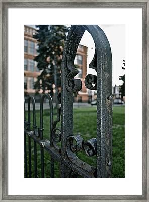 Fence Framed Print by Brynn Ditsche