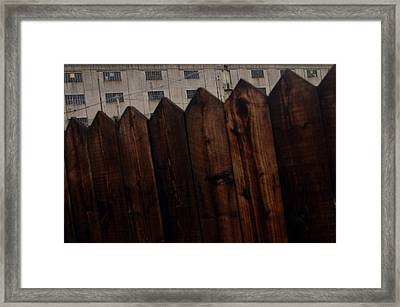 Framed Print featuring the photograph Fence by Jez C Self