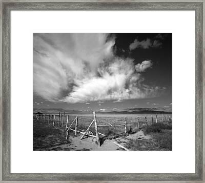 Fence Valley Framed Print by Leland D Howard
