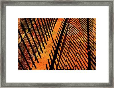Fenced Framework Framed Print