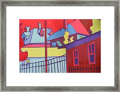Fenced In  Framed Print by Debra Bretton Robinson